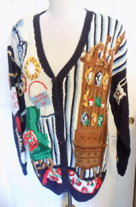 Vintage 90s Eagle's Eye Ramie Cotton Sweater Antique Shop Hand Knit Medium