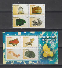Philippine Stamps 2009 Minerals found in the Philippines, Complete Set, MNH