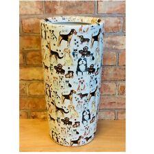 Breeds of Dogs Ceramic Umbrella Stand / Walking Stick Stand MIN0817