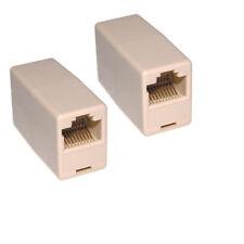 10 Pcs Cat 5e Network Patch Ethernet RJ45 Coupler Joiner Adapter Converters LW