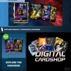 Topps Marvel Collect Explore the Universe Series 1 - Gold & Cosmic 22 Card Set