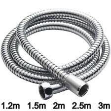 Long Shower Hose Flexible Stainless Steel Chrome Standard Shower Bathroom Pipe