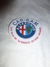 vecchio adesivo anni '80 ALFA ROMEO ALFA CAR-SAM