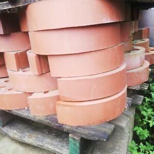 Half round coping bricks