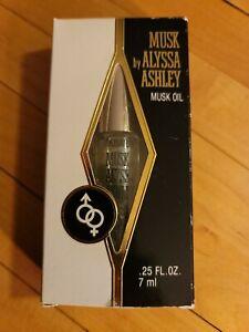Musk by Alyssa Ashley musk oil Vintage .25 oz  new in box