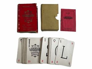 Rare Edition of Lexicon Carnival Gold Monogram card game by Waddingtons 1930s.