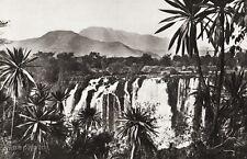 1934 Vintage 11x14 ETHIOPIA ~ Blue Nile Waterfall Mountain Landscape Photo Art