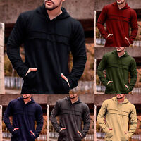 Men Hoodie Warm Hooded Sweatshirt Coat Jacket Jumper Sweater Outerwear Casual