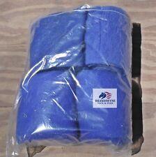 Used blue polo wraps
