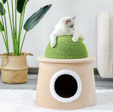 Cactus Cat Cave / House with Scratch Post - converts into occasional stool