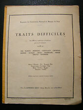Partition Traits Difficiles Hautbois 1948 Music Sheet
