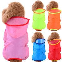 Puppy Waterproof Raincoat Pet Dog Hoodie Hooded Rain Coat Outdoor Vest Jacket