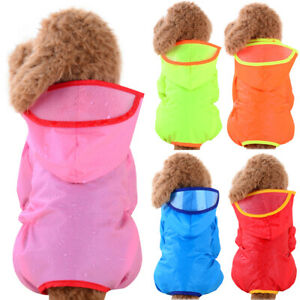 Puppy Waterproof Raincoat Pet Dog Hoodie Hooded Rain Coat Outdoor Vest Jacket