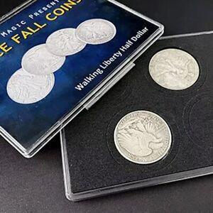 Space Fall Coins (Walking Liberty Half Dollar) Magic Tricks Coin Magic Magician