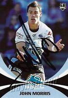 ✺Signed✺ 2011 CRONULLA SHARKS NRL Card JOHN MORRIS Daily Telegraph