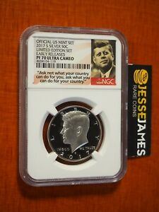 2017 S 50C PROOF SILVER KENNEDY HALF DOLLAR NGC PF70 ER FROM LIMITED EDITION SET