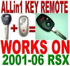 Allin1 key remote for 2001-2006 RSX CHIP KEYLESS ENTRY alarm beeper REMOTE fob