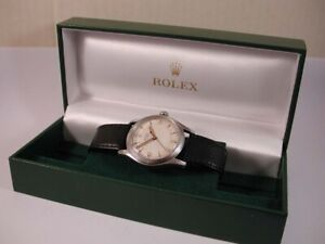 Full Size 40's Steel Rolex Oyster Calibre 710 With Box. Just Serviced. 34 mm's