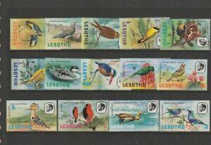 Lesotho. full set of stamps 1981 Birds, Mint-MNH