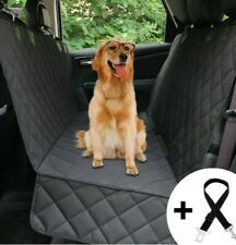 Pet Car Seat Cover Rear Bench Waterproof Hammock for Dog Cat Truck Black New