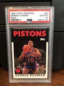 1992-93 Topps Archives GOLD Dennis Rodman Basketball Card #86 PSA 10 Gem Mint