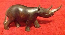 Vintage carved wood Kenyan Style Africa Rhinoceros figure folk art figurine HTF