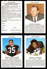 1971 CHEVRON TOUCHDOWN CFL FOOTBALL B C LIONS SET LOT OF 26 cards JACKIE PARKER