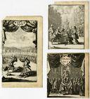3 Antique Prints-THEATRE-CORNEILLE-LE MENTEUR-EL CID-HORACE-Santvoort-ca. 1670