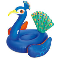 Summer Waves Giant Peacock Ride On Inflatable Swimming Pool Float Raft Lounger