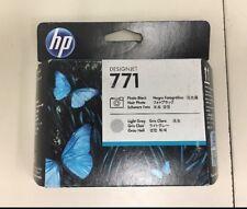 BRAND NEW HP 771 CE020A PHOTO BLACK LIGHT GRAY PRINTHEAD DESIGNJET 2018
