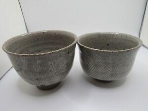 Rare old Korean celadon stoneware cups damaged