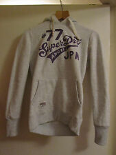 Grey & Purple Superdry Hoodie in Size XS / Size 8 - 10 - Number 77 on back