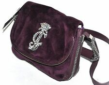 Juicy Couture Mini Ciara Chain Velour Plum Crossbody Bag - NEW W/TAGS (See Cond.