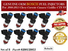 Cadillac CTS V8 OEM Bosch 8 Fuel Injectors For 2006-2015 Chevy Corvette//Camaro