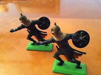 VV....Britains Plastic Medieval Figures  ... 2 figures... in good condition