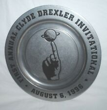 "1996 Clyde Drexler Invitational Golf Tournament 10"" pewter plate, Houston"