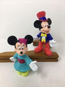 Mcdonalds Disney USA Mickey And Kimono Minnie Mouse Epcot Center Figures Vintage