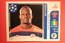PANINI CHAMPIONS LEAGUE 2011/12 N 123 SOW LILLE WITH BLACK BACK MINT!!
