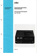 Service Manual-Anleitung für Braun TGC 450