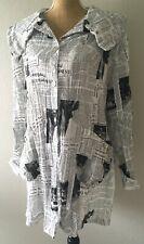 Boho Hippie Langenlook Oversized Newspaper Steampunk Vintage Top Jacket XXL