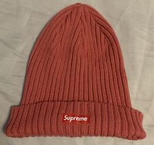 Supreme Overdyed Ribbed Beanie Red SS18 In Hand 100% Authentic