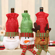 3 X Christmas Wine Bottle Holder Cover Gift Bag Presents Novelty Table Xmas Bags