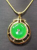 Gold Plate Rose Lavande Jade Pendentif Larme RUYI Diamant Imitation 320445