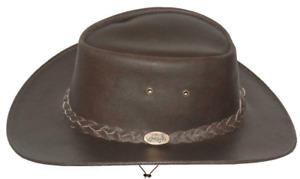 Black Jungle Kids Broome - Cowboyhut aus Rindsleder mit Kinnriemen, Brown, Gr. L
