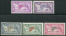 FRANCE  SCOTT#128/32 3fr TO 20fr MERSONS  MINT LIGHT HINGED--SCOTT VALUE $492.50