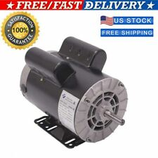 New 58 3hp Spl1phase Electric Air Compressor Duty Motor 56 Frame Shaft Usa