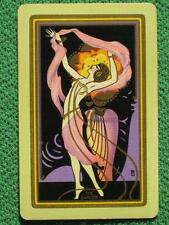 "Art Deco Pinup Flapper Girl Swap Card ""The Dancer"" Rare Vintage 1920's Beautiful"