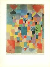 """1967 Vintage PAUL KLEE """"SOUTHERN TUNISIAN GARDENS"""" WOW! COLOR offset Lithograph"""