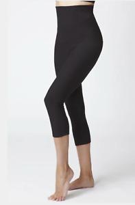 TLC Sport Women's Tummy Control High Waist Crop Pant / Cropped Leggings - M