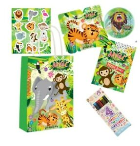 Jungle theme pre filled party bags comes with 5 fun fillers